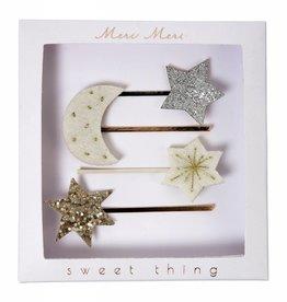 Meri Meri moon & stars hairclips
