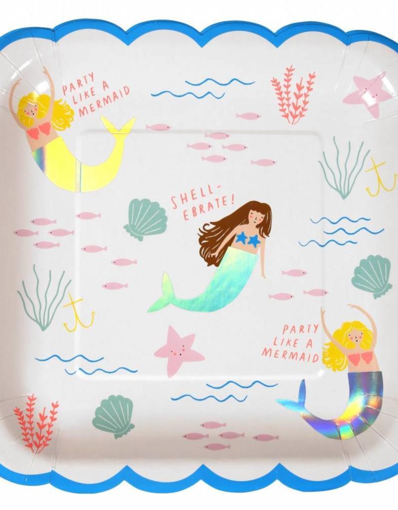Meri Meri mermaid plates large