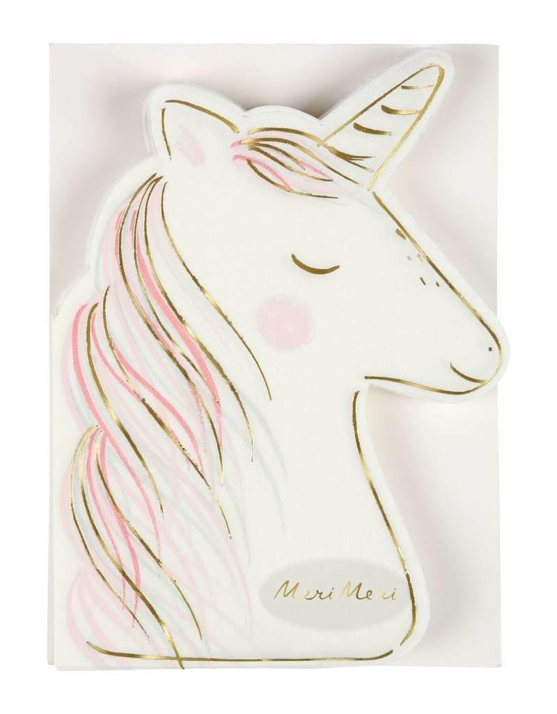 Meri Meri unicorn cutout napkins large