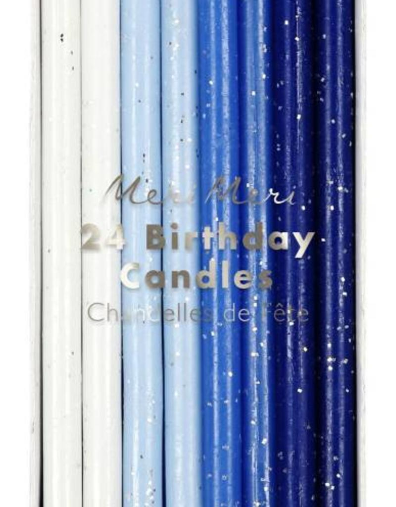 Meri Meri blue flecked birthday candles