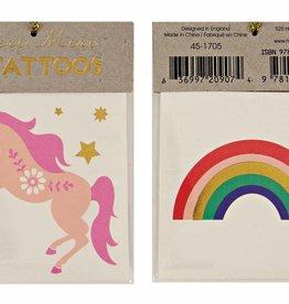 Meri Meri rainbow floral unicorn tattoos