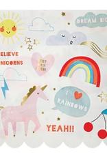 Meri Meri unicorn/rainbow napkins large