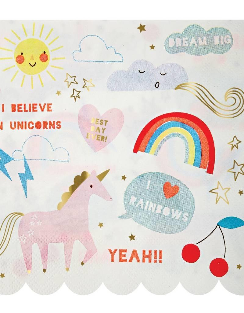 Meri Meri unicorn napkins large