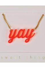 Meri Meri yay necklace