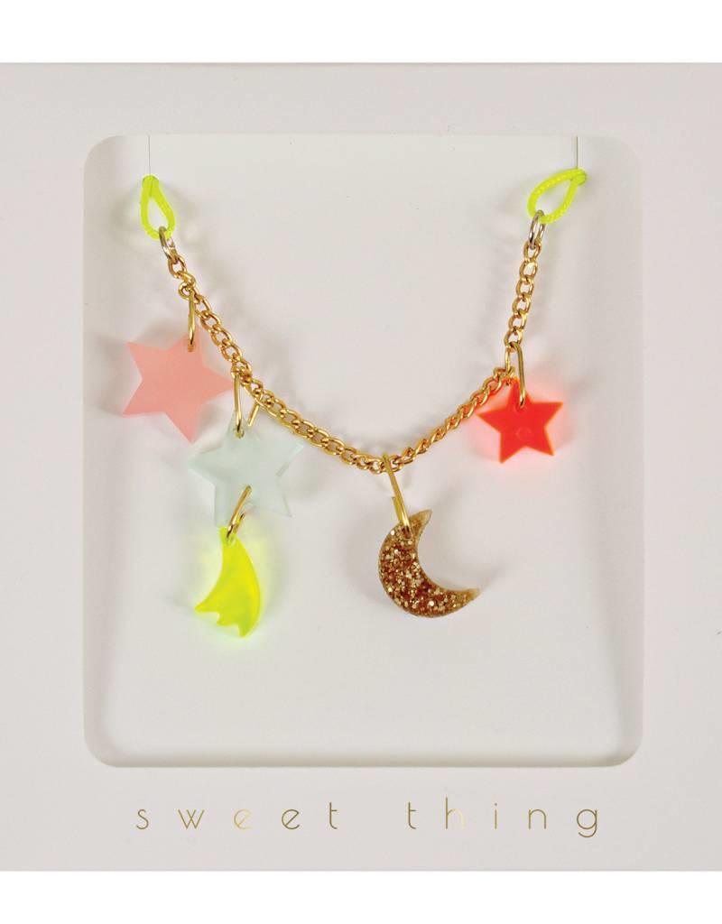 Meri Meri moon & stars necklace