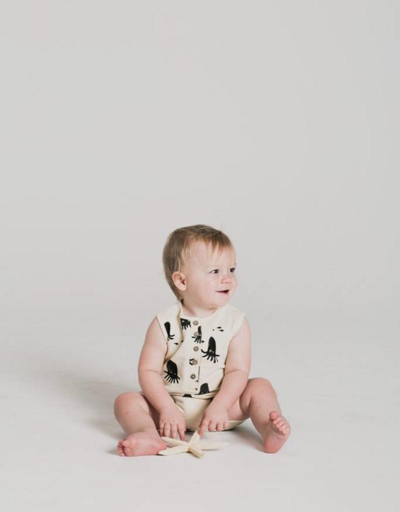 Rylee and Cru octopus romper- ivory
