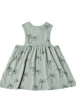 Rylee and Cru baby palm trees dress- seafoam