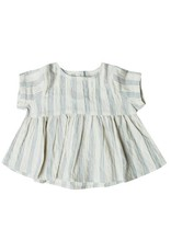 Rylee and Cru baby stripe top- ivory/stormy blue