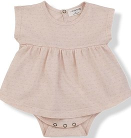 1+ in the Family tzara onesie- peach