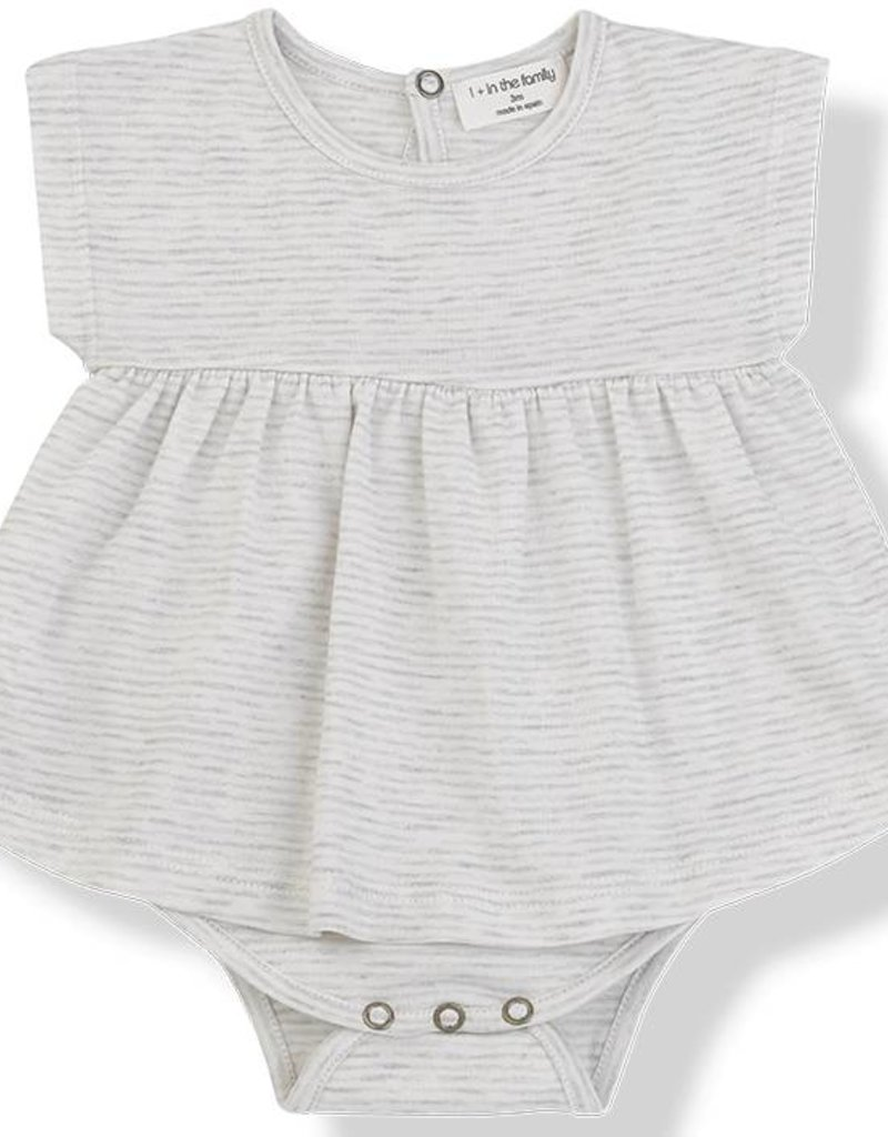 1+ in the Family gala onesie- natural