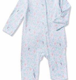 Angel Dear floral bunny footie