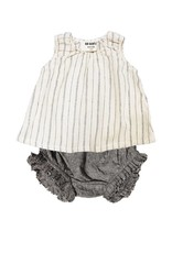 Go Gently Nation woven stripe baby set- natural hemp