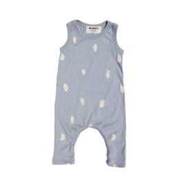 Go Gently Nation jersey long romper- silver paint brushes