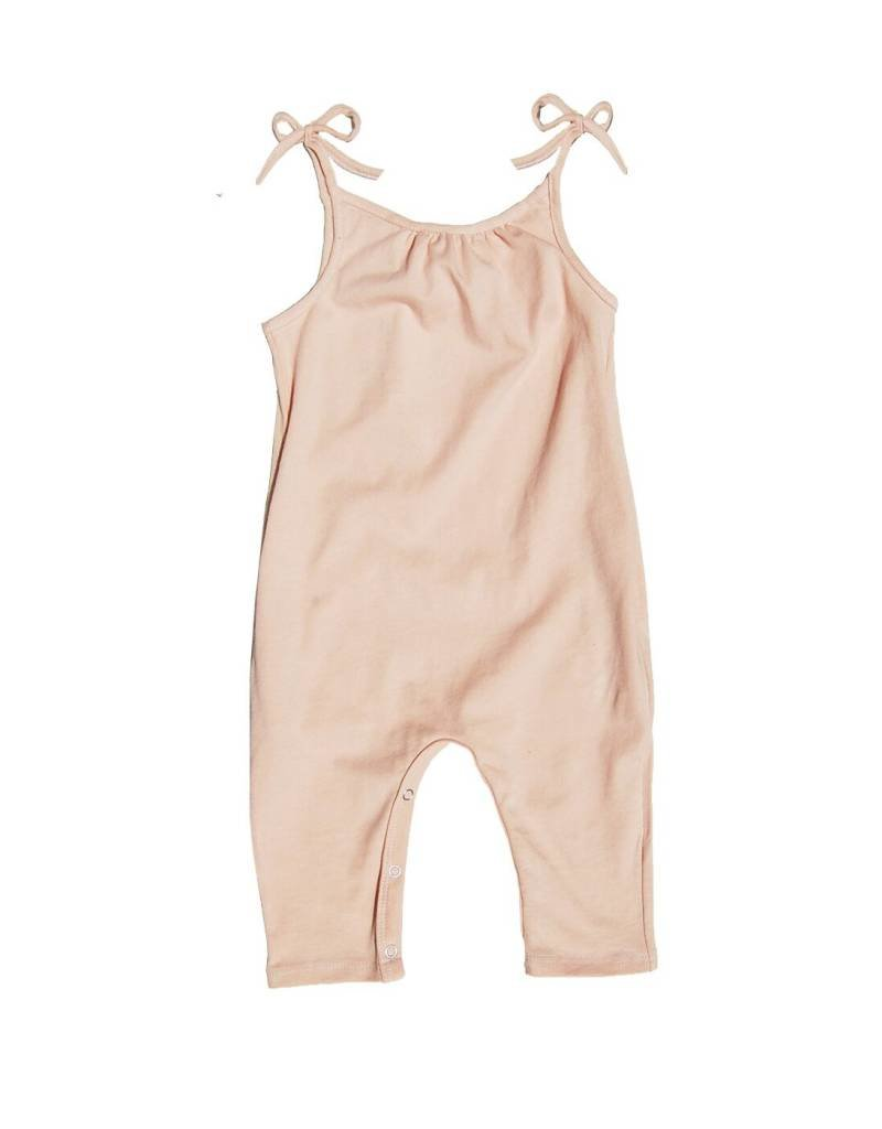 Go Gently Nation baby jersey jumpsuit- desert pink