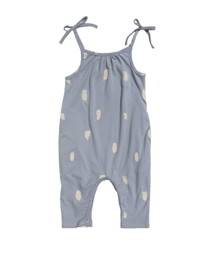 Go Gently Nation baby jersey jumpsuit- silver painted brushes