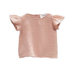 Go Gently Nation gauze flutter blouse- desert pink