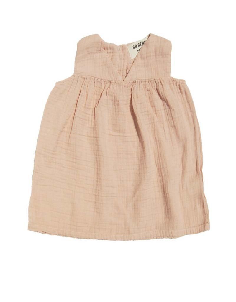 Go Gently Nation gauze dress- desert pink