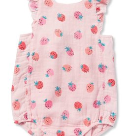 Angel Dear strawberry sunsuit