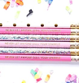 Taylor Elliott Designs never let anyone dull your sparkle pencil set