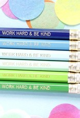 Taylor Elliott Designs work hard & be kind- blue pencil set