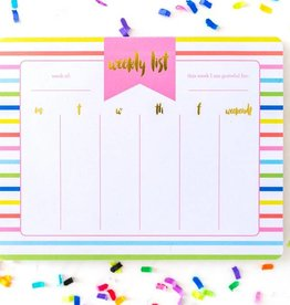 Taylor Elliott Designs striped weekly planner notepad