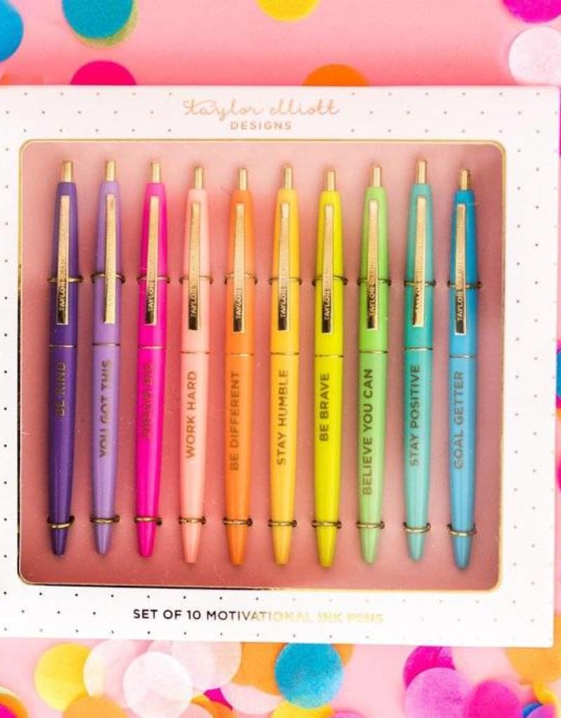 Taylor Elliott Designs motivational pen set