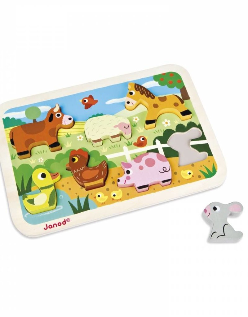 Janod chunky puzzle- farm