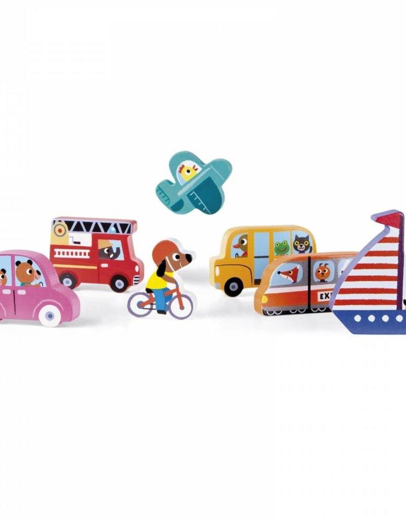 Janod chunky puzzle- vehicles