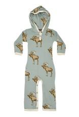Milkbarn hooded romper blue moose