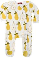 Milkbarn footed romper pears