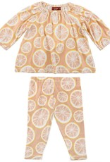 Milkbarn LS dress set grapefruits