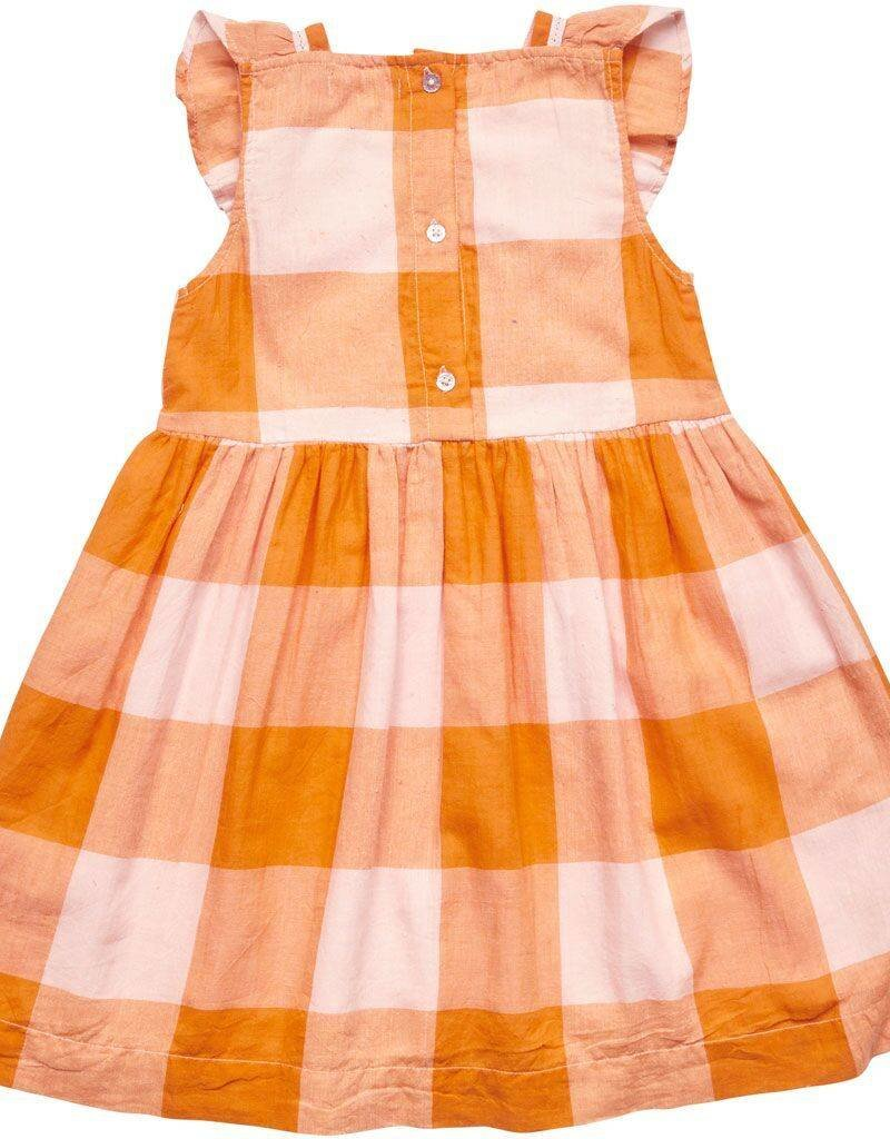 Pink Chicken aurora dress- orange gingham