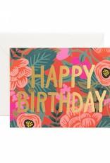 Rifle Paper Co. poppy birthday card