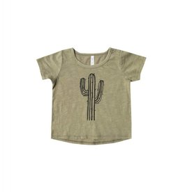 Rylee and Cru cactus basic tee- olive