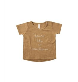 Rylee and Cru baby rainbow basic tee- marigold