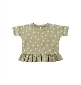Rylee and Cru sunrise boxy peplum- olive