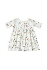 Rylee and Cru baby fox land finn dress- ivory