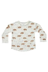 Rylee and Cru baby buffalo longsleeve pouch tee- ivory