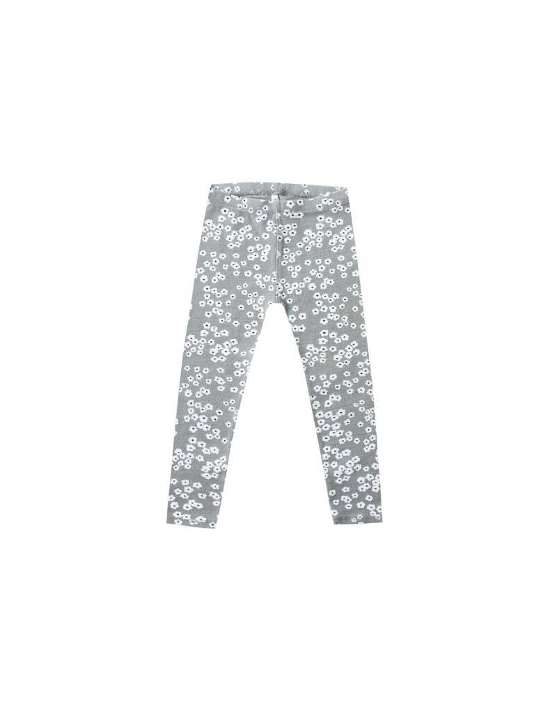 Rylee and Cru flower field knit legging- washed denim