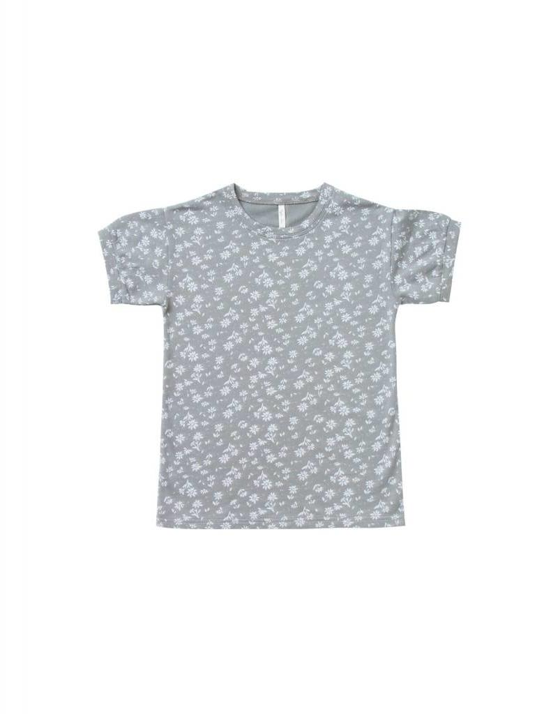 Rylee and Cru blossom terry shirt dress- washed denim