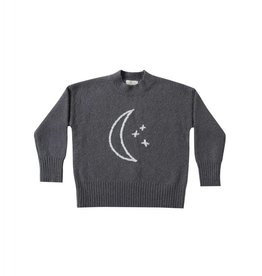 Rylee and Cru moon embroidered cassidy sweater-midnight