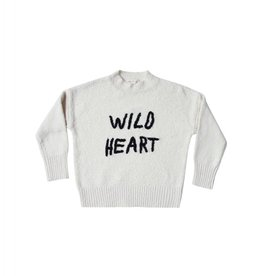 Rylee and Cru wild heart embroidered cassidy sweater- ivory