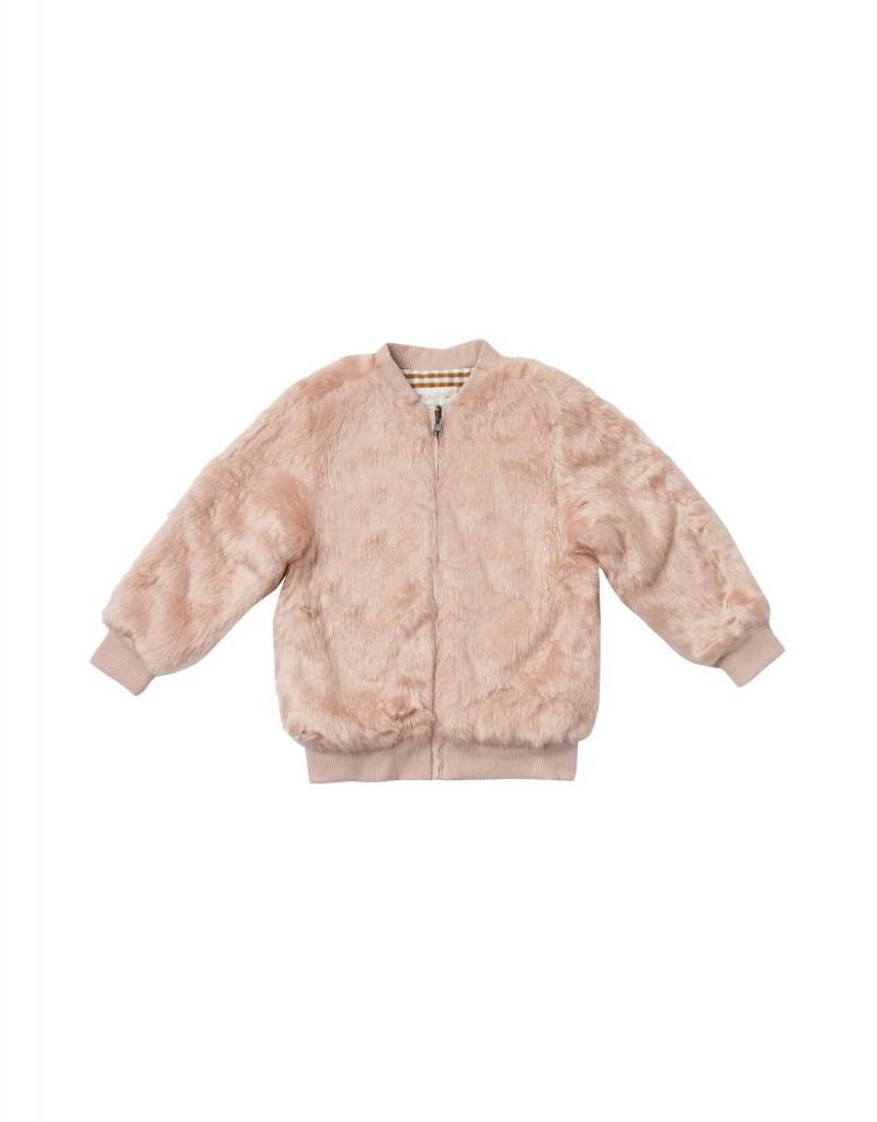 Rylee and Cru fur bomber- petal