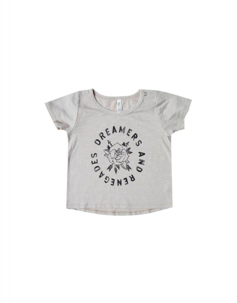 Rylee and Cru baby rose and arrows basic tee- dove