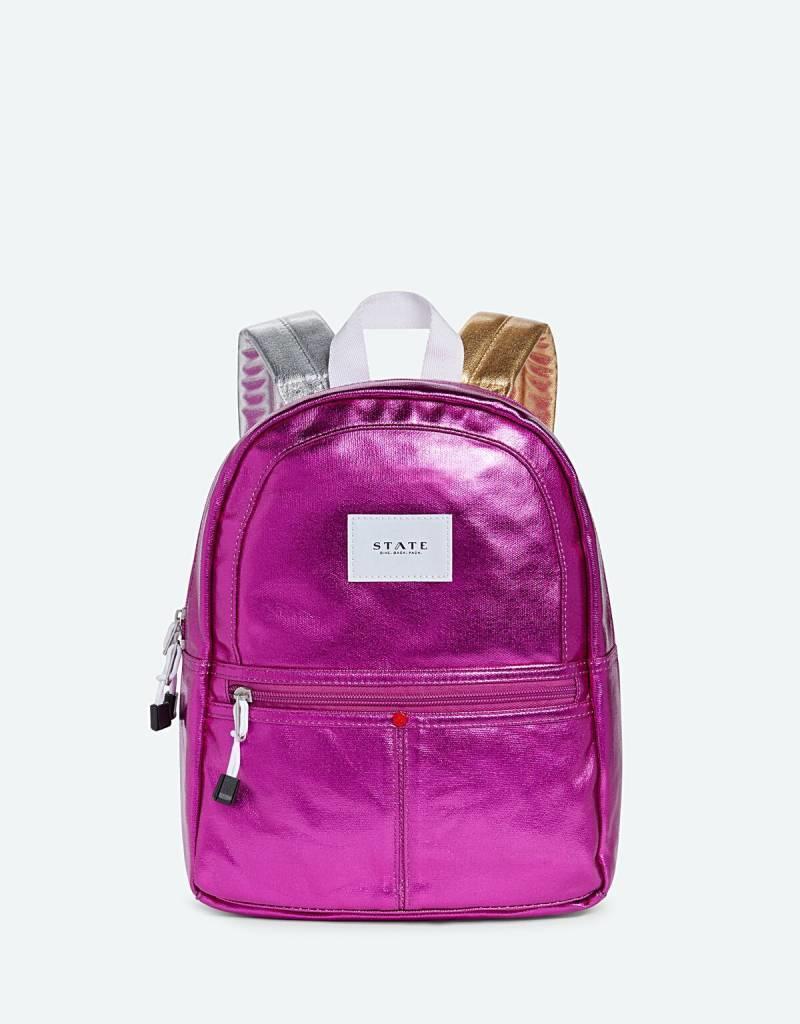State Bags mini kane hot pink metallic