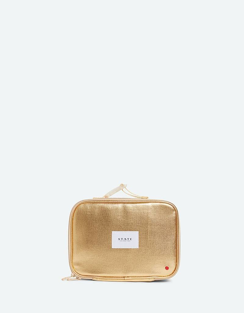 State Bags rodger's lunch box gold metallic