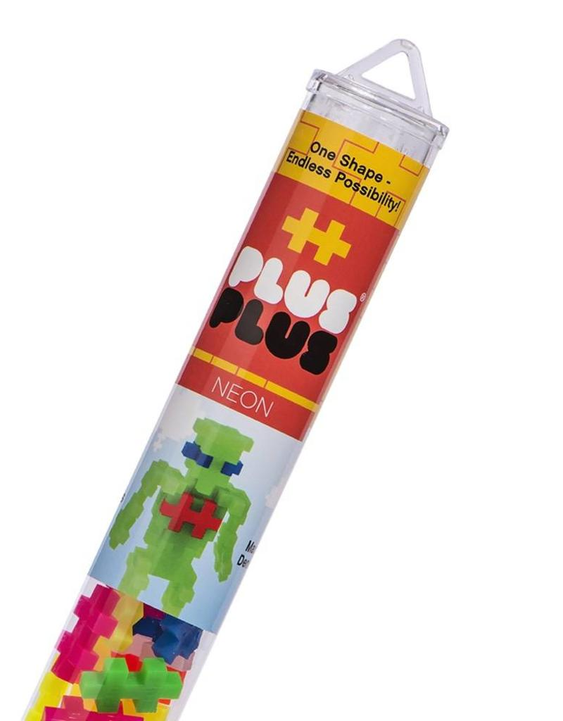 Plus Plus open play neon mix tube