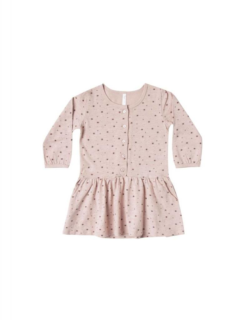 Rylee and Cru mini stars button up jersey dress- petal
