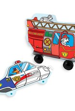 OOLY 3D colorables- rescue vehicles