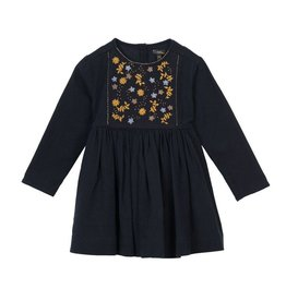 Velveteen camille- l/s embellished dress
